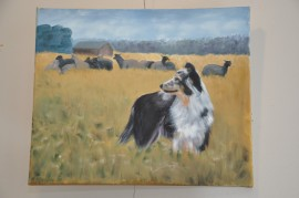 R. Ojasen maalaama koira.
