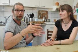 Jakke Haapanen ja Jaana Ojalainen ovat toistensa parhaat tukijat ja kannustajat.