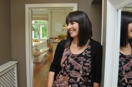 Johanna Sulander-Hovila on sisustanut oman kotinsa rauhallisin värein.