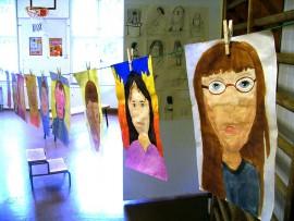 Terttilän koulun oppilaiden piirustuksia.