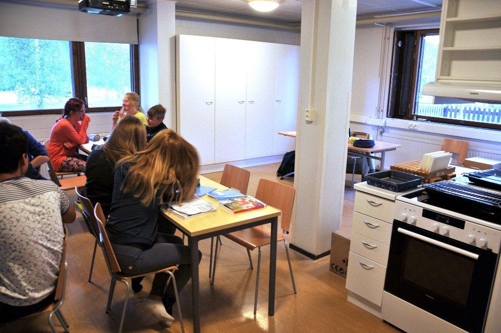 Yläkoulun uusi kotitalousluokka on Sepäntien kerrostalossa.